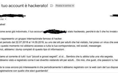 """Pioggia di mail fraudolente """"ti ho rubato l'account"""" con tentativo di riscatto: lo spoofing"""